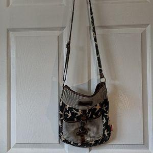 Large crossbody zipper bag